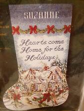 Bucilla 84023 HOLIDAY AT HOME Christmas Stocking Kit ~ Sealed