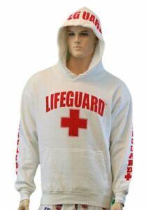 Lifeguard Life Guard Kids Pullover Hoodie Sweatshirt Red Boys Girls Youth XS - L