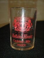 VINTAGE HOLLAND HOUSE LIONS CREST SHOT GLASS COCKTAIL MIX JIGGER USA  WHISKEY