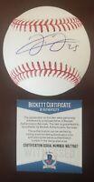 Frank Thomas Signed Autographed OML Baseball BAS Beckett WITNESSED COA