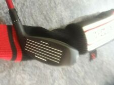 LEFT HAND ADAMS XTD-ti 18 deg adjustable golf hybrid Matrix Red Tie S flex