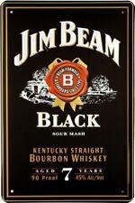 Retro Motiv Blechschild 20x30 Jim Beam Bourbon Whiskey BAR Deko Werbe Plakat