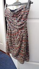 Mango bandeau floral wrap dress size M