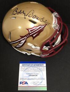 Bobby Bowden Signed Autographed Florida State Seminoles Mini Helmet Psa/Dna