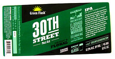 Green Flash Brewing 30TH STREET PALE ALE beer label CA 12oz