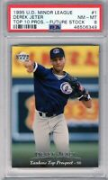 "1995 U.D.Minor League #1 Future StocK  "" Derek Jeter "" PSA 8 {HOF 2020 99.7%} RC"