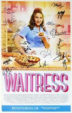 WAITRESS Cast Christopher Fitzgerald, Jessie Mueller Signed Poster