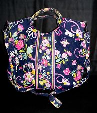 VERA BRADLEY Navy FLORAL -short and long handle, SEE ALL PICS