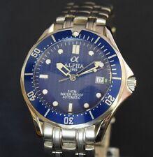 Alpha Seamaster Blue Automatik Homage Uhr Watch Herrenuhr Parnis Seagull NEU