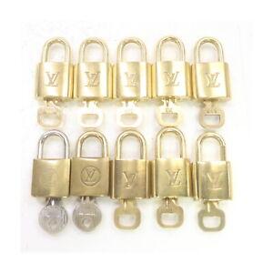 Louis Vuitton LV Padlock Set of 10Pairs Gold Brass 1424796