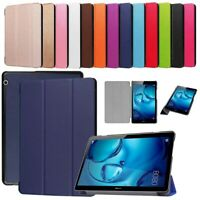 Smart Leather Tablet SLIM Stand Case Cover For Huawei MediaPad T5 10.1 & T3 9.6
