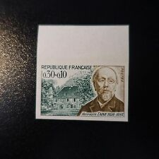 PHILOSOPHE HIPPOLYTE TAINE N°1475 TIMBRE NON DENTELÉ IMPERF 1966 NEUF** LUXE MNH