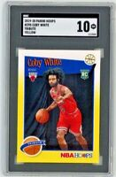 2019-20 Panini Hoops #295 Coby White Tribute Yellow Rc Rookie SGC 10 Gem Mint