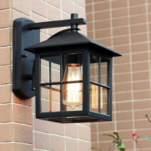 Outdoor Wall Lights Proch Black Lighting Garden Wall Lamp Home Glass Wall Sconce