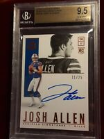 JOSH ALLEN AUTO 2018 PANINI ENCASED ROOKIE 11/25 SCRIPTED SIGNATURES BILLS