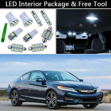 12PCS Bulbs White LED Interior Lights Package kit Fit 2013-2016 Honda Accord J1