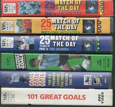 6 VIDEOS 25 YEARS MATCH OF THE DAY PARTS 1,2, 3 GOALS GALORE WORLD CUP CHARLTON