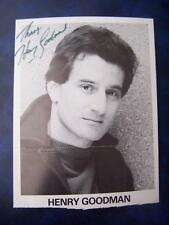 Henry Goodman - Autograph (GC5) 8 x 6  inch A/F cut down with fold