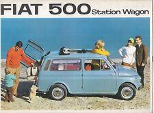 FIAT 500 GIARDINIERA ORIGINAL MID 1960s FACTORY UK SALES BROCHURE
