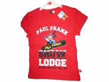 Paul Frank Julius Monkey T-shirt, Red, Snowboard, Size 6 to 16, UK Seller, BNWT