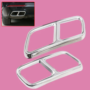 2X Exhaust Pipe Muffler Cover Fit For Mercedes Benz S R GL Class X166 W222 W251