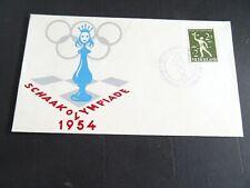 Nederland 647 op envelop Schaakolympiade 1954 Amsterdam met speciaal stempel