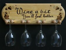 "New Handcrafted Wood Burned ""Wine a Little"" wine rack"