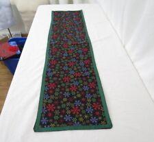 Handmade Table Runner Size 47.5 X 12 Snowflakes Christmas Winter