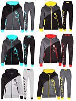 Kids Tracksuit Boys & Girls Designer Printed Hoodie and Bottom Joggers Suit 7-13