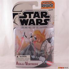 Star Wars Clone Wars animated Asajj Ventress Cartoon Network action figure worn