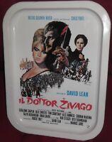 VASSOIO LATTA PUBBLICITà VINTAGE FILM OMAR SHARIF/DOTTOR ZIVAGO ZHIVAGO TIN TRAY