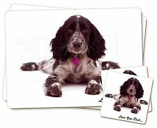 Blue Roan Cocker 'Love You Dad' Twin 2x Placemats+2x Coasters Set in , DAD-186PC