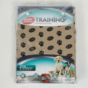 """BRAND NEW SIMPLE SOLUTION TRAINING WASHABLE TRAVEL PADS XXL 30"""" X 32"""""""
