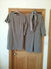 Ladies Smart Bianca Dres Suit Long Jacket Size 12/14