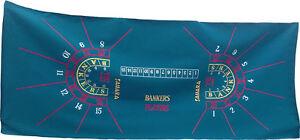 Layout New Authentic Sahara Full Size Baccarat Casino Wool Felt Las Vegas Nevada