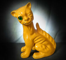 RARE, WONDERFUL GROTESQUE ALLER VALE WINKING CAT - circa 1900