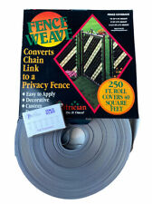 PEXCO FENCE WEAVE® 250' ROLL (40 SQ FEET) W/ BRASS FASTENERS - SILVER New