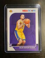 2019-20 NBA 🏀 PANINI HOOPS TALEN HORTON-TUCKER 🌟 ROOKIE CARD LA LAKERS mint.