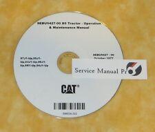 SEBU5427 Caterpillar D5 Tractor Dozer Operation Maintenance Manual CD