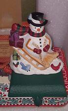 Eddie Bauer Christmas Stocking Hanger Holder Snowman Midwest Cast Iron NIB
