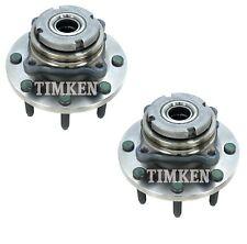 Pair Set 2 Front Timken Wheel Bearing Hub Kit for F-250 F350 SD 4WD 2Wheel ABS