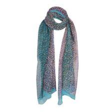Sciarpe, foulard e scialli da donna blu in misto seta
