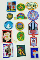 Vintage Set of 15 Boy Scouts Patches Undated Shiloh Freeze Out Jefferson Council