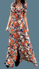 Glamorous Split Maxi Dress Multicoloured Size UK 16 DH002 GG 09