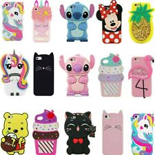 3D Cartoon Kids Cover Case For iPhone 5S 5C 6 6S 7 8 Plus XS XR XS Max Touch 7 6