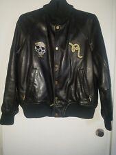 """""""Vintage Rocawear"""" Original lamb skin Leather Black Bomber Jacket 2xL"""