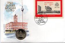 Numisbrief DDR: 750 Jahre Berlin vom 08.09.1987