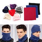 Snood Scarf Winter Hat Fleece Neck Warmer Balaclava Men Women Black Ski Mask ESU