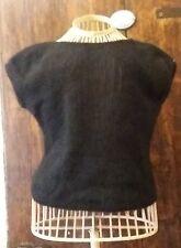 LIU JO/maglia/lana/autunno/inverno/nero/senza maniche/spalle nude/small