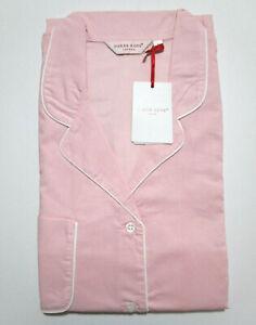 DEREK ROSE LADIES PYJAMAS - SMALL 8/10 - 100% COTTON PJ - RRP. £175 AMALFI PINK